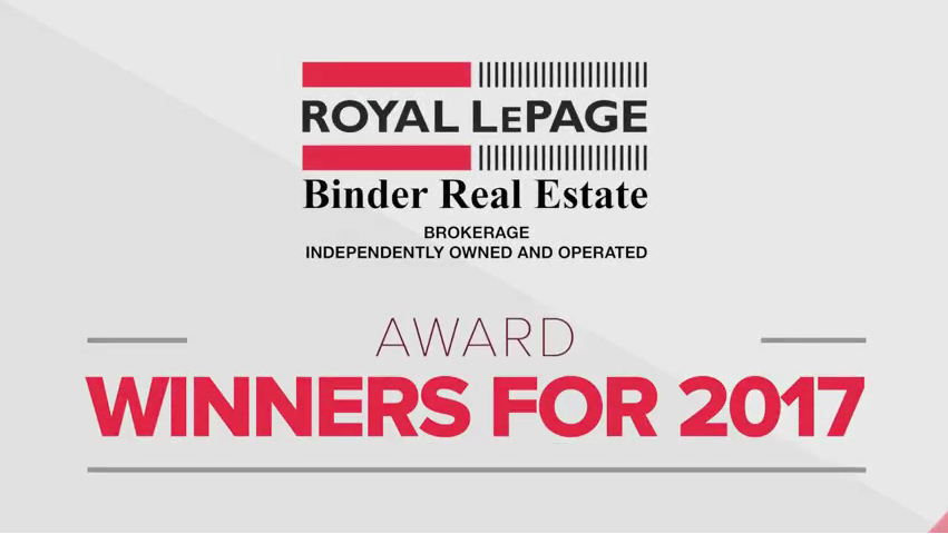Congratulations to All 2017 Royal LePage Binder Award Winners
